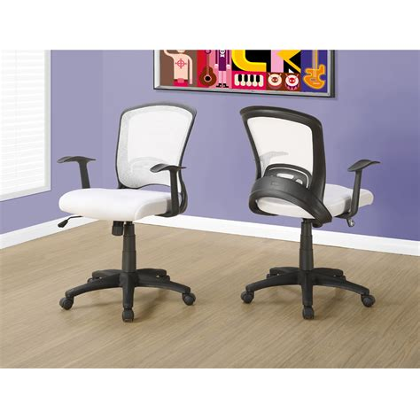 aaron mesh fabric office chair in white modern office chairs
