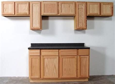 quality     unfinished oak standard wall cabinet