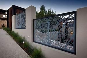 panneau occultant et cloture brise vue en metal en 65 With awesome photos terrasses et jardins 5 portail alu decoupe laser