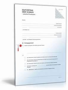Vorläufiger Kaufvertrag Haus Vorlage : kaufvertrag schmuck rechtssicheres muster zum download ~ Orissabook.com Haus und Dekorationen