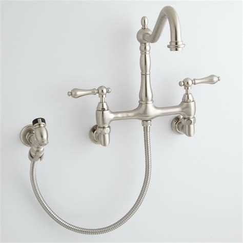 Wall Mounted Faucet Kitchen by Inspirations Beautiful Wall Mount Faucet With Sprayer For