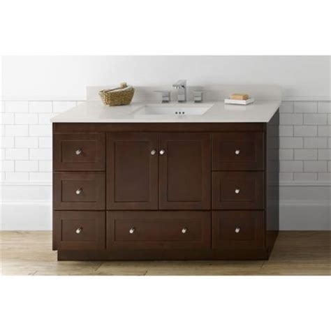 48 Cabinet With Drawers by Ronbow 081948 3 Shaker 48 Vanity Cabinet With 2 Wood Doors