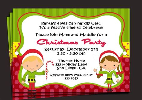 sample invitation  christmas party   christmas