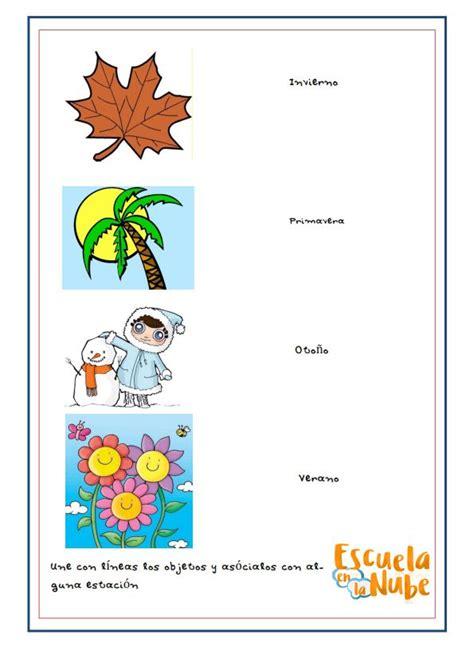 estaciones del año primavera verano otoño invierno