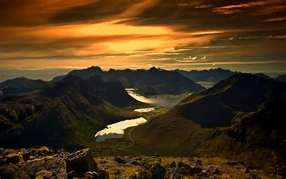 Mountains Majestic Android Water Sunset Mountain Sunrise
