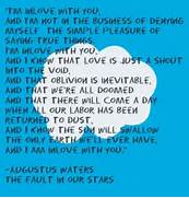 The Fault In Our Stars...