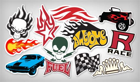 Flame & Racing Stickers