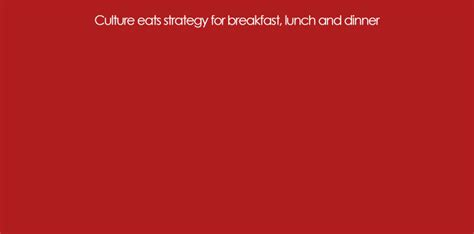 organizational culture eats strategy for breakfast and dinner