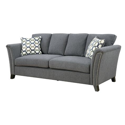 furniture of america sofa reviews furniture of america shirley fabric sofa in gray idf