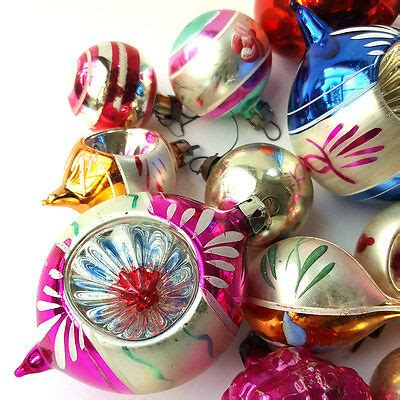 lovely vintage mercury glass christmas tree baubles
