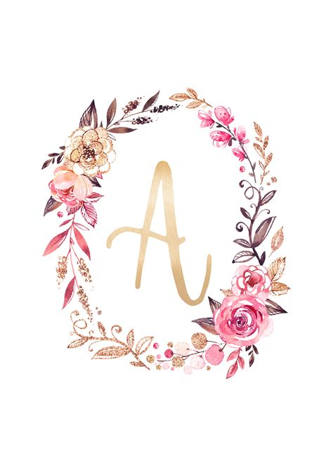 glitter  glam monogram printables  cottage market
