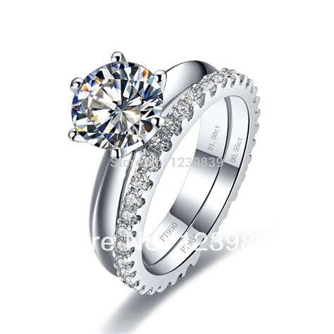 2018 platinum engagement and wedding rings sets