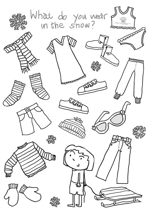 14 best images of clothes for children worksheets winter