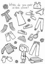 Clothes Worksheets Winter Printable Children Worksheet English Washing Worksheeto Via sketch template