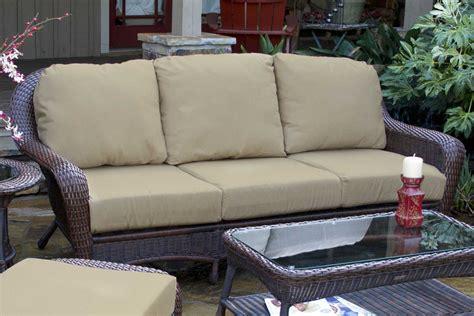tortuga outdoor sea pines wicker cushion sofa lex