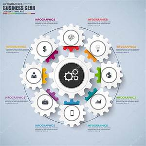 Abstract 3d Business Gear Diagram Infographic  Can Be Used