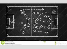 Soccer Tactics On Chalkboard Stock Illustration Image