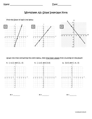 math slope worksheets lf 18 converting from point slope