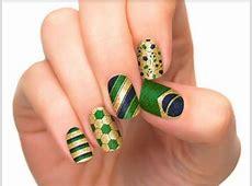 FIFA World Cup 2014 Brazil Nail Art Designs