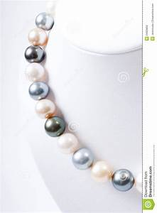 Color Pearl Necklace Stock Photography - Image: 24929802