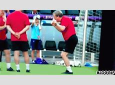 GIF Roy Hodgson shows off his bunnyrabbit impression