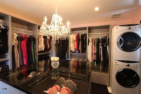 Master Closet With Washer And Dryer by Platt Park Custom Home