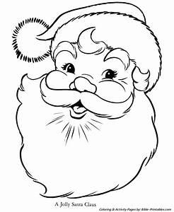 Santa Christmas Coloring Pages - Jolly Santa