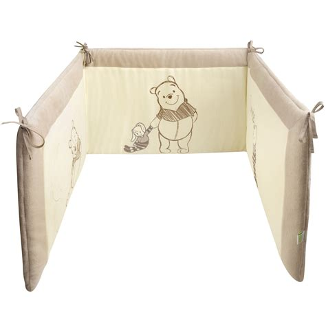 tour de lit winnie ecru beige de disney baby tours de lit aubert