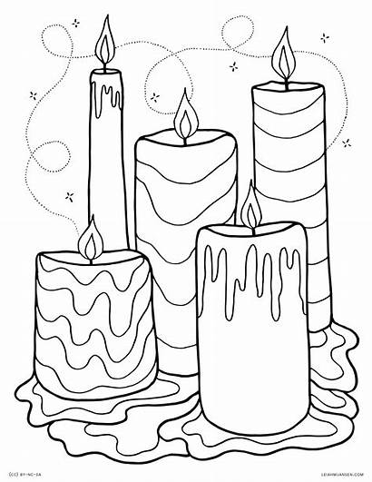 Coloring Pages Candles Wax Candle Printable Adults