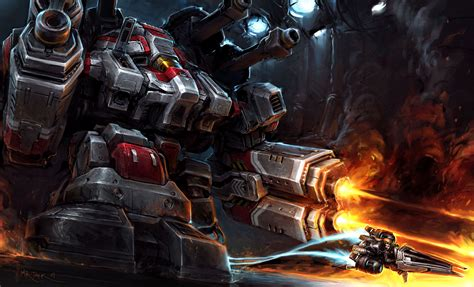 starcraft 2 thor wallpaper 7718