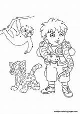 Diego Coloring Pages Go Print Printable Dora Getcoloringpages Browser Window Printables sketch template