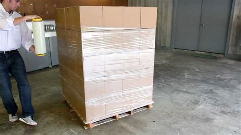 stretch wrapping pallets understanding hand dispensers youtube