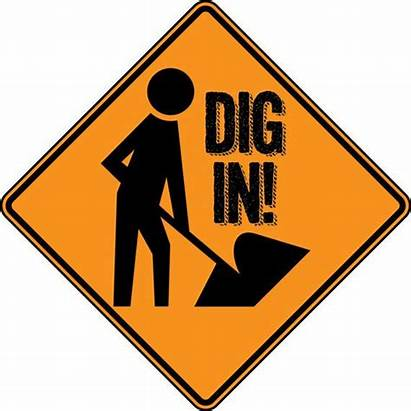Construction Sign Party Birthday Signs Dig Printable