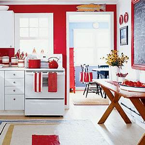 red walls white kitchen cabinets coastal colors red With kitchen colors with white cabinets with pier 1 wall art