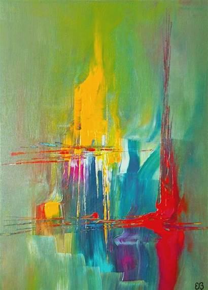 Peinture Bousquet Abstraite Venezia Acrylique Frissons Eau