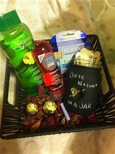 Gift basket I made my boyfriend for Christmas
