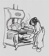 Stove Coloring Clip Cool sketch template