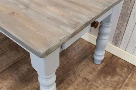 PAINTED BASE TABLE FARMHOUSE KITCHEN DINING TABLE HANDMADE