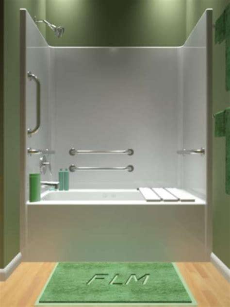 piece tub shower ideas  pinterest  piece shower  piece tub surround