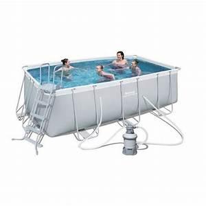 Piscine Rectangulaire Tubulaire Pas Cher : bestway piscine tubulaire rectangulaire ~ Dailycaller-alerts.com Idées de Décoration