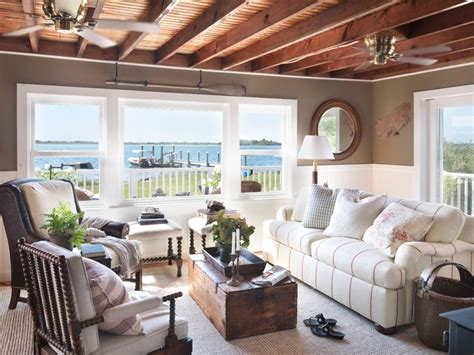 cottage living rooms coastal cottage style living room providence Coastal