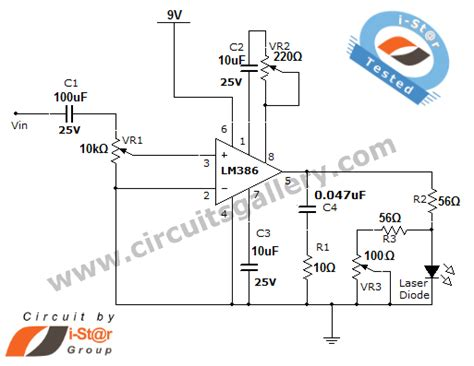 Laser Communication Project Circuit Schematic Using