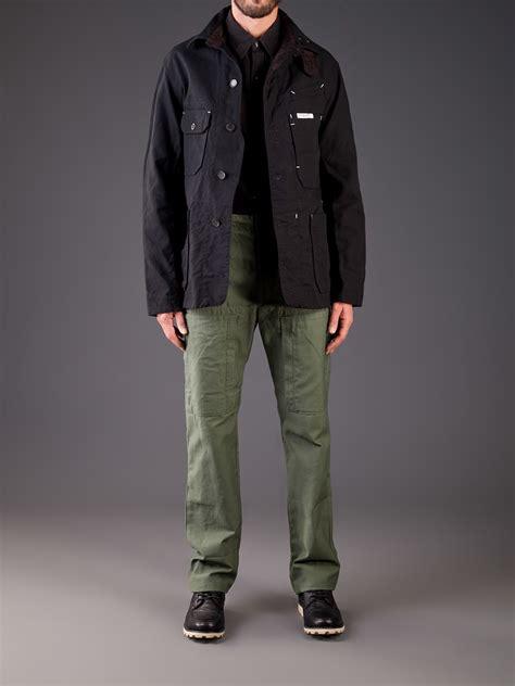 engineered garments coverall jacket  black  men lyst