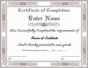 certificate templates With certification of completion template