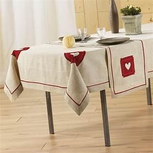 Nappe De Table Rectangulaire : nappe rectangulaire l240 cm mont blanc brod lin nappe de table eminza ~ Teatrodelosmanantiales.com Idées de Décoration