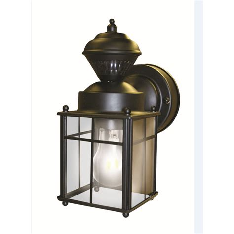 motion activated porch light shop secure home 9 52 in h matte black motion activated