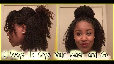 Natural Hair 10 Ways To Style Your Wash And Go Hair