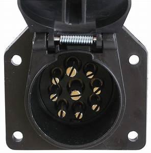 9-way Round Pin Trailer Connector