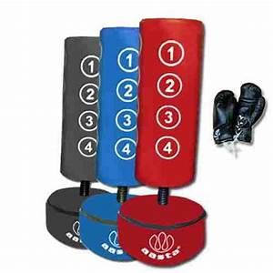 Boxsack Für Kinderzimmer : freistehender boxsack f r kinder mit handschuhen blau blau ~ Watch28wear.com Haus und Dekorationen