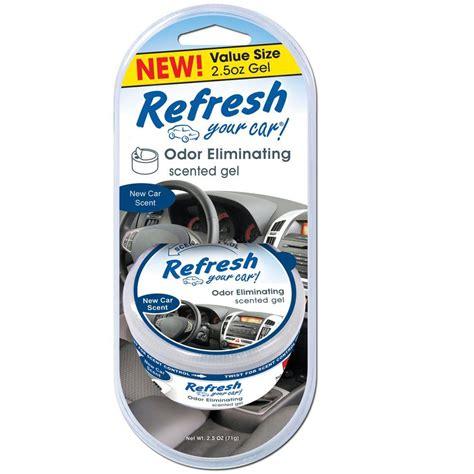 refresh  car  oz  car odor eliminating scented gel  air freshener   home